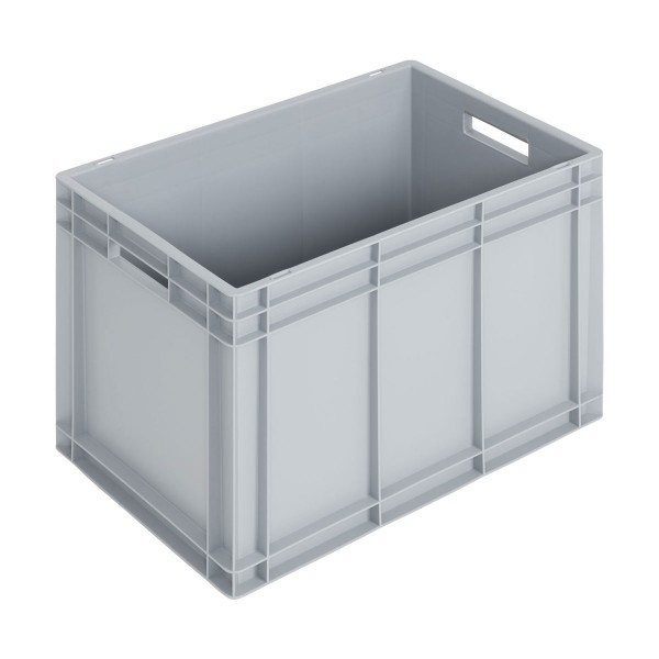 Newbox 80, v1, 600x400x420 mm, grau, Boden und Seitenwände glatt
