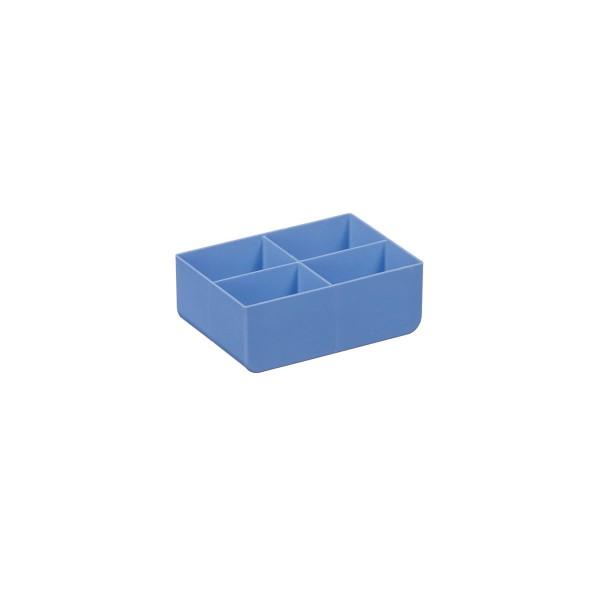 USN 16 143x111x52 mm, blau, 4 Unterteilungen
