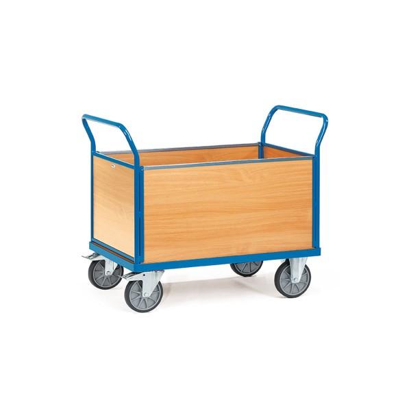 Vierwandwagen mit Holzwänden 500 mm hoch