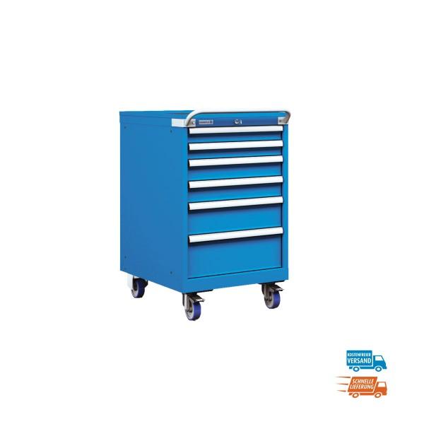 Mobiler Schubladenschrank, 6 Schubladen im Einfachauszug