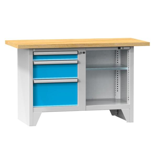 Kompaktwerkbank mit 2 Schubladen und Ablagefach verstellbar