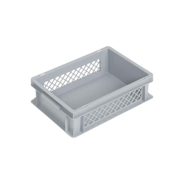 Newbox 10, v2 400x300x120 mm, Boden glatt, Seitenwände durchbrochen