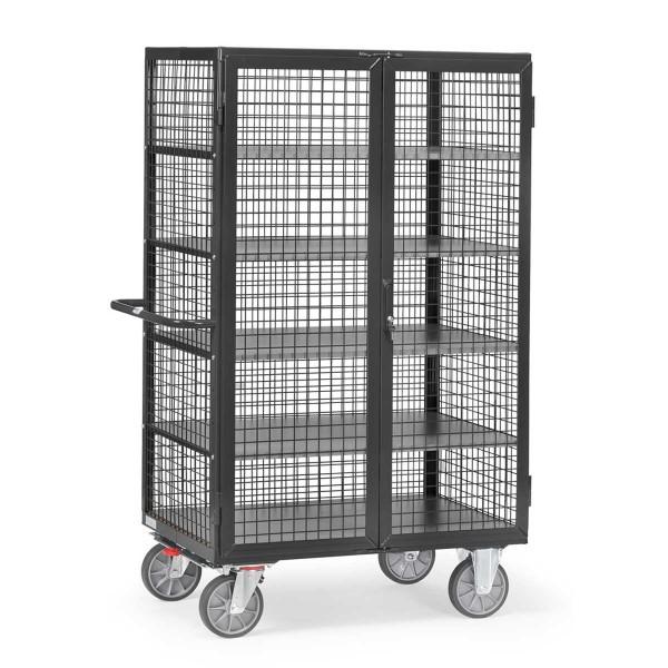 Kastenwagen mit Gitterwänden, RAL 7016