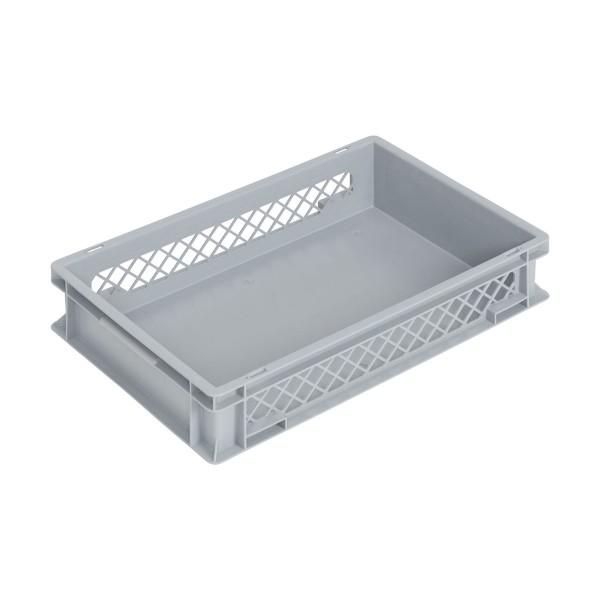 Newbox 24, v2 600x400x120 mm, Boden glatt, Seitenwände durchbrochen