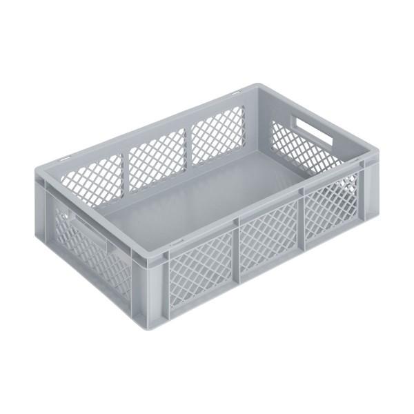 Newbox 34, v2 600x400x170 mm, Boden glatt, Seitenwände durchbrochen