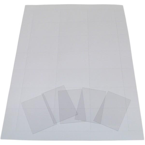 Etiketten Regallade Serie 91, 230 mm, 100 Stück  A4, weiß, perforiert, PVC Schutzstreifen