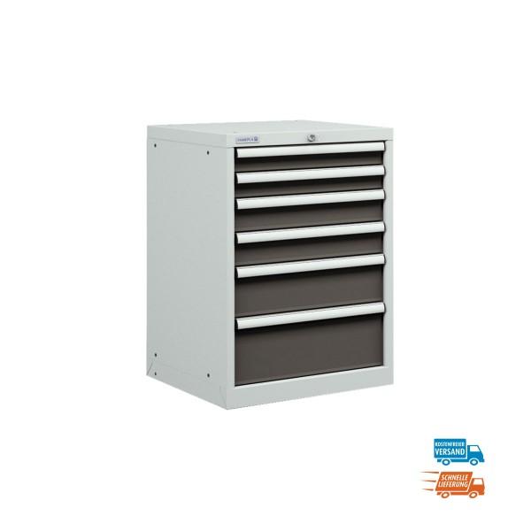 Schubladenschrank mit 6 Schubladen, Einfachauszug, versandkostenfrei