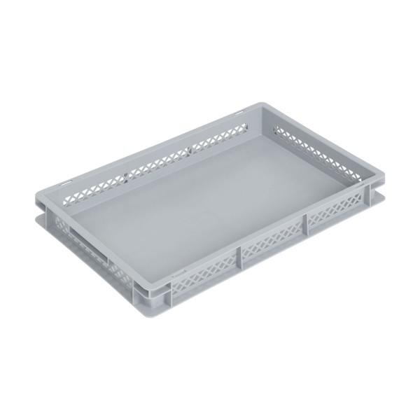 Newbox 15, v2 600x400x75 mm, Boden glatt,Seitenwände durchbrochen