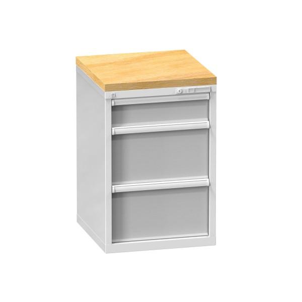 Buchenplatte als Schutzabdeckung für Schubladenschränke