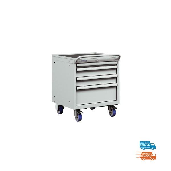 Mobiler Schubladenschrank mit 4 Schubladen, Vollauszug, versandkostenfrei
