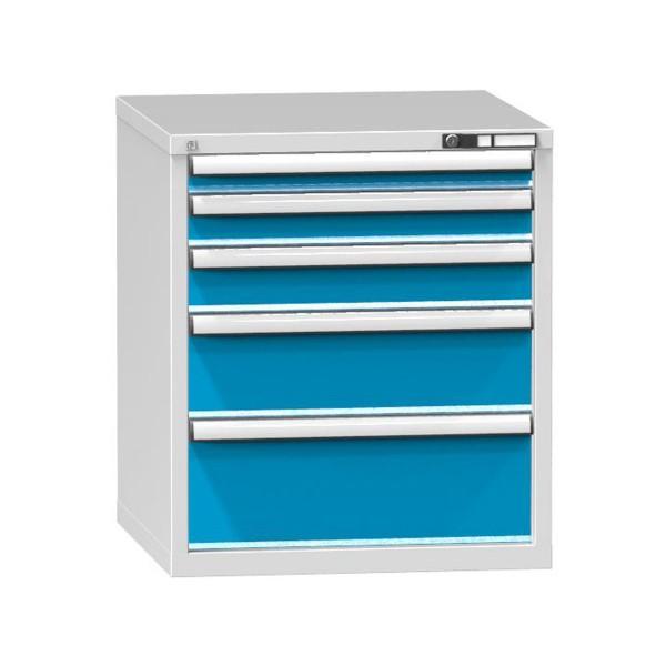 Schubladenschrank mit 5 Schubladen, RAL 7035/5012