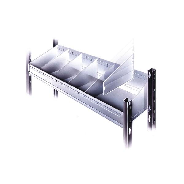 Hinteranschlag für Lagerwannenteiler passend für 970 mm breite Fachböden