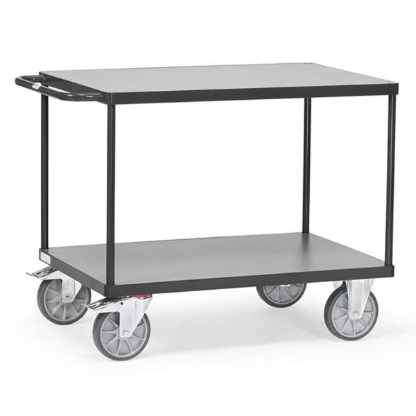 Tischwagen mit 2 Ebenen, RAL 7016