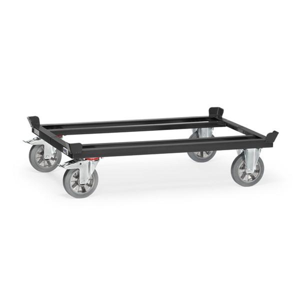Palettenfahrgestell Tragkraft 1200 kg, Elasticräder, geringer Rollwiderstand, elastischer Lauf, keine Fahrgeräusche