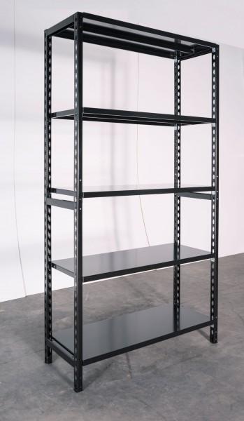 Prokoss Grundregal pulverbeschichtet, 2000x1030x500 mm (HxBxT), 5 Fachböden/Belastung 1