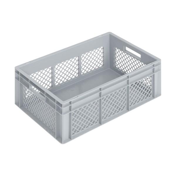 Newbox 42, v2 600x400x220 mm, Boden glatt, Seitenwände durchbrochen