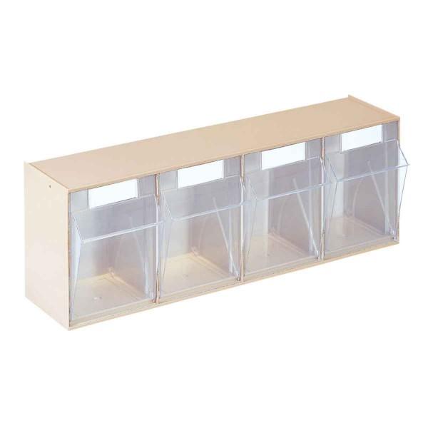 Transparenter Kippkasten im Set 4